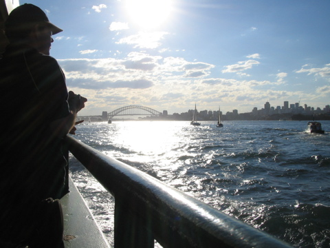 Returning from Manly