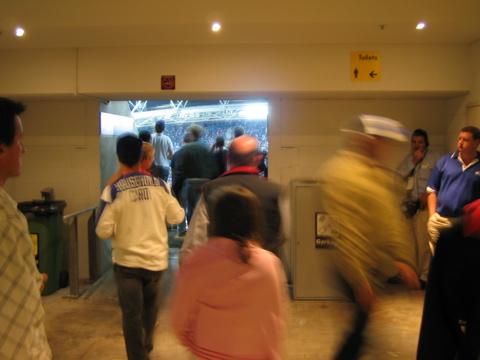 Entering Sydney Olympic Stadium