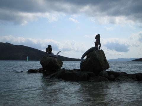Bronze mermaids