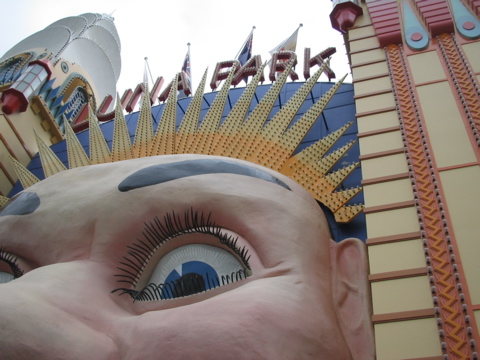 Detail of Luna Park's entrance
