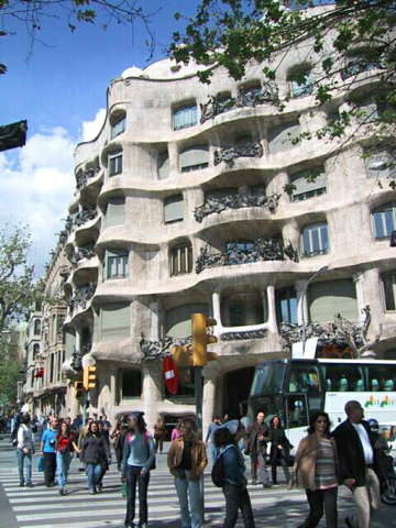Gaudi apartment building