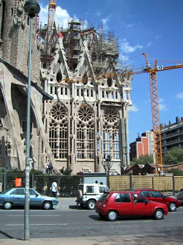 Construction on the Sagrada Familia