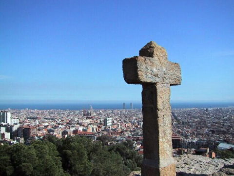 Cross in Park Guell
