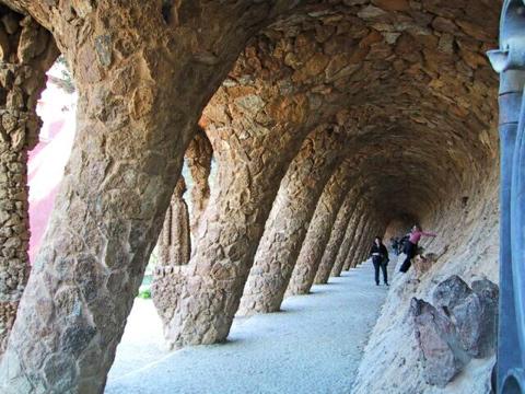 Gaudi's columns at Park Guell