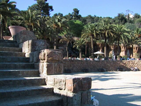 Terraces in Park Guell