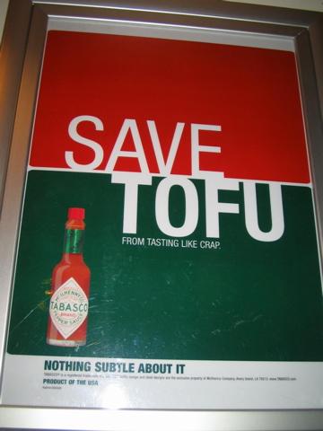 Save tofu