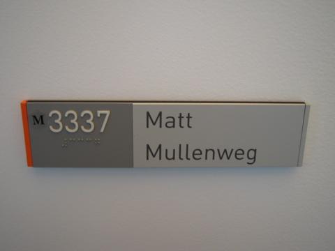 Mullenweg plaque