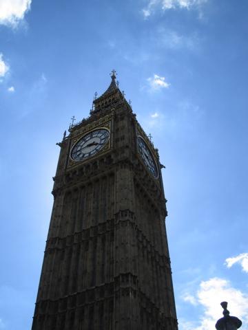 Looking up at Big Ben