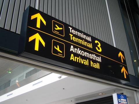 Copenhagen airport signage