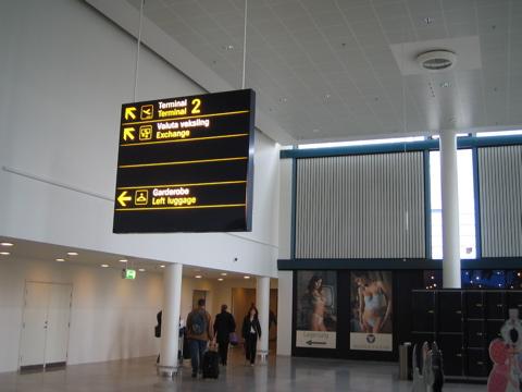Copenhagen airport signage 2