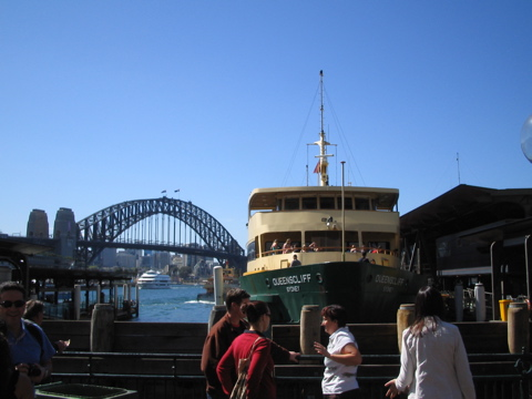 Bridge and ferry