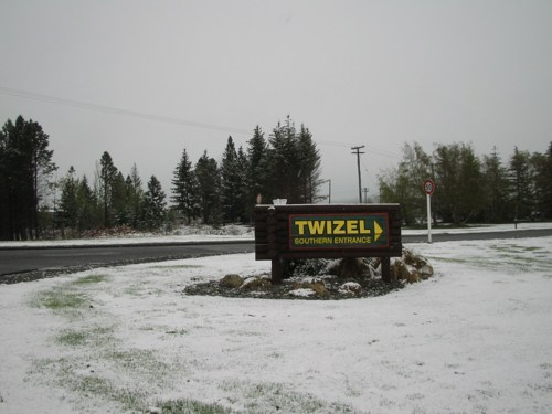Twizel sign, driving south