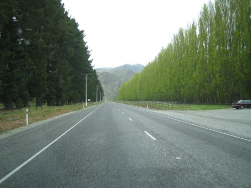 Driving into Queenstown