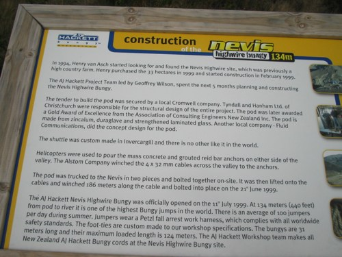 Construction on the Nevis