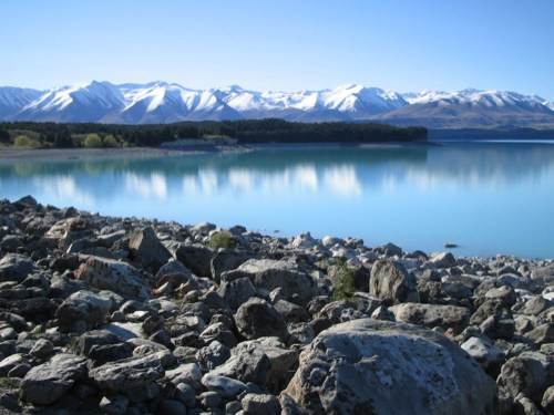 Southern end of Lake Pukaki