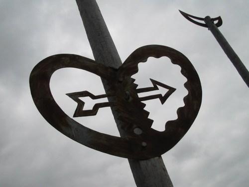 Symbols near the harbor