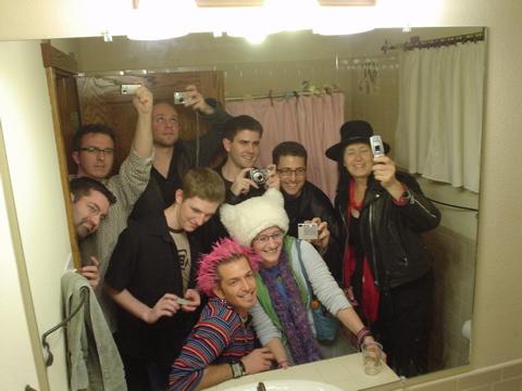 Token bathroom shot