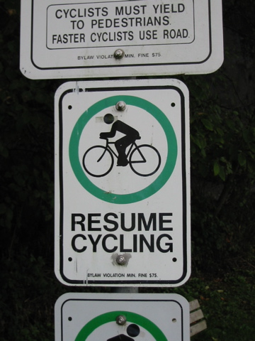 Resume Cycling